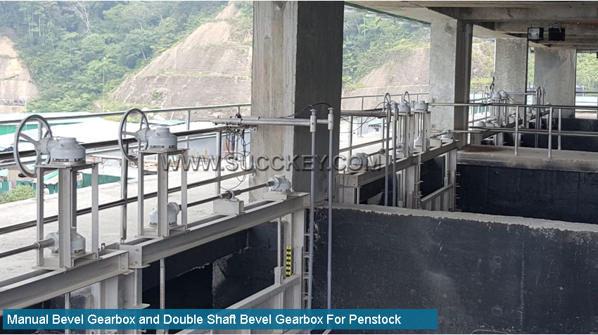 Bevel Gearbox for Penstock